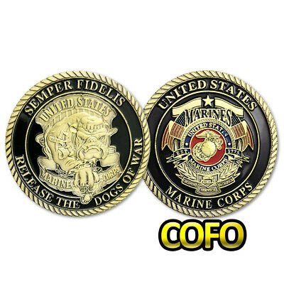 United States Marine Corps USMC Military Devil Dog of War Challenge Coin