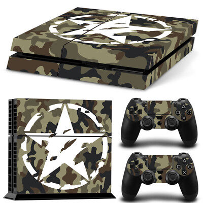 Sticker Couverture Protection Ps4 Skin Deco Us Army Console Manettes Ps4S006