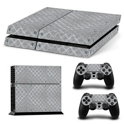 Sticker Couverture Protection Ps4 Skin Deco Alu Metal Console Manettes Ps4S001