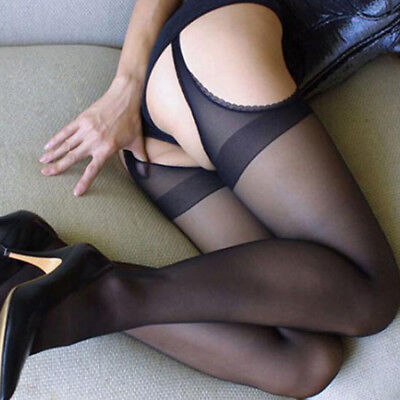 Sexy Women Plus Size Sheer Pantyhose Socks Tights Lace Fishnet Stockings Hold Up