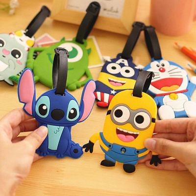 Cartoon Silicone Travel Luggage Tags Name Address ID Suitcase Bag Label