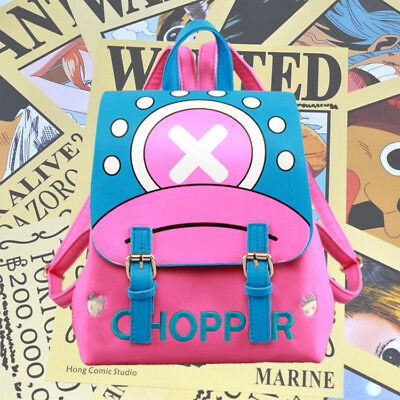 Anime One Piece Chopper Backpack Shoulder Bag Students School Bags Knapsack Gift