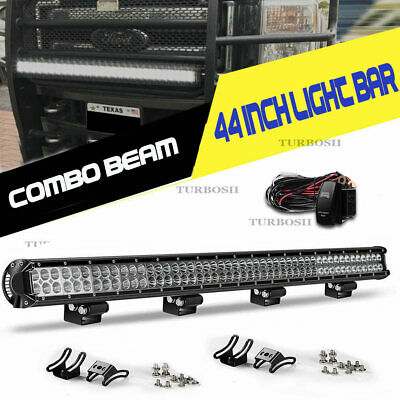 Offroad 700W 52inch LED Light Bar Curved Flood Spot Combo Truck Roof Driving 4WD
