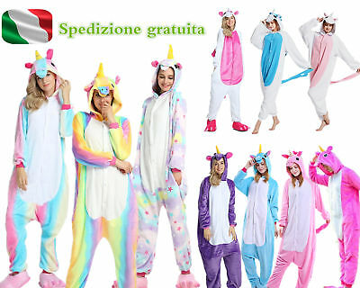 Hot Pigiama kigurumi costume unicorn-carnevale adulti-cosplay animali tuta-party