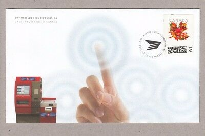 Variety = GUIDELINE / ALIGNMENT marks  on KIOSK stamp  OFDC, FDC Canada 2012