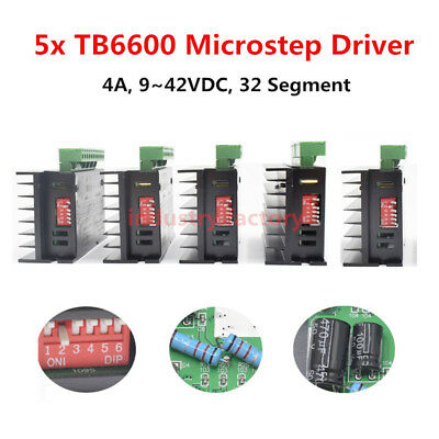 5x TB6600 Driver Micro step For CNC 2/4 Phase Hybrid Stepper Motor Controller 4A