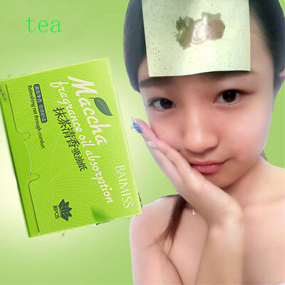 New Makeup Absorbing Blotting Tea Oil Facial 80 Paper Scent Face Green Sheets