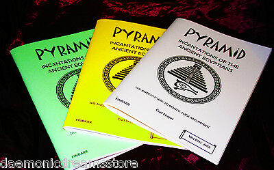 PYRAMID INCANTATIONS by Carl Nagel. Finbarr. Magick Occult Witchcraft. 3 Volumes