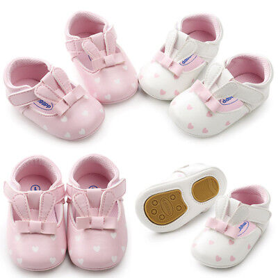 UK Baby Girls Toddler Infant First Walkers Soft Casual Shoes Princess Shoes KL