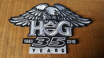 HOG 35th Anniversary Jacket Vest Patch 1983-2018 Harley-Davidson® NEW