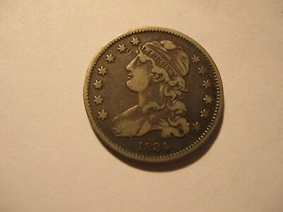 1834 Capped Bust. Quarter - Very Fine  #1822
