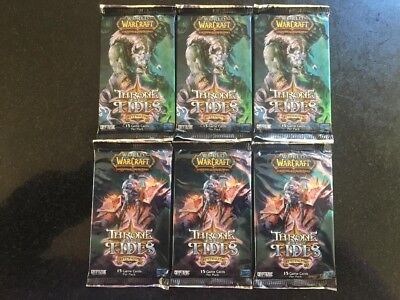 World of Warcraft WOW TCG - 6x Throne of the Tides Booster Packs