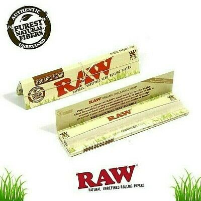 Raw Organic Hemp King Size Slim Rolling Papers Natural Unrefined *BEST PRICES*