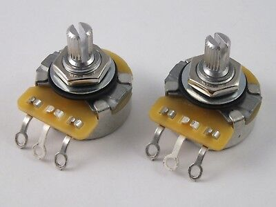 Vintage CTS POTS Log A or Linear B 250k Volume Tone Potentiometers for Guitars