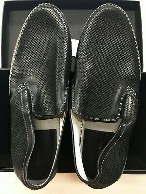 3cd64e88766 ZANZARA MENS MERZ Slip-On Premium Perforated Leather Shoes Black ...