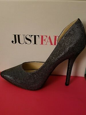 79bf9ef6a77 Just Fab Justfab Clorence Black High Heel Shoes Pumps Stilettos US Size 7  NIB