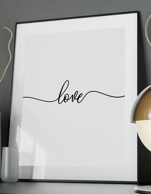 Love Inspirational Quote Poster Art Print A3 A4 Home Coco Vogue Valentine Wall