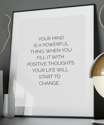 Powerful Humans Inspirational Quote Poster Art Print A3 A4 A5 Home Vogue Wall