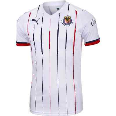 5774d820d NEW PUMA MENS Chivas 2016 2018 White Red Navy Away Authentic Jersey ...