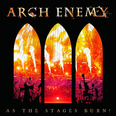 As The Stages Burn!  ARCH ENEMY CD+ DVD ( FREE SHIPPING)