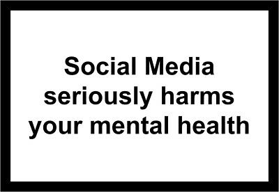 Social Media Seriously Harms Your Mental Health Sticker 3 PACK