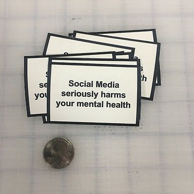 Social Media Seriously Harms Your Mental Health Phone Sticker 1