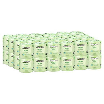 Marcal Pro Toilet Paper 100% Recycled - 2 Ply, White Bath Tissue, 242 Sheets ...