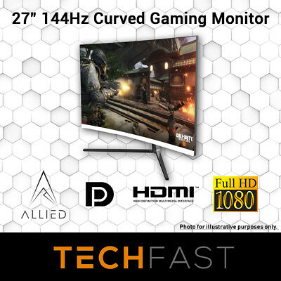 """27"""" Curved 144Hz Allied Expanse LED 3MS FHD Gaming Desktop Monitor"""