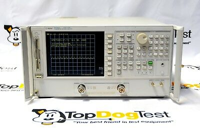"Hp Agilent Keysight 8753ES 006 Network Analyzer 300 kHz to 6 GHz "" WARRANTY """