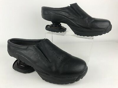 Z Coil Mens 13 Black Leather Clog Pain Relief Shoes Orthopedic Spring Walking