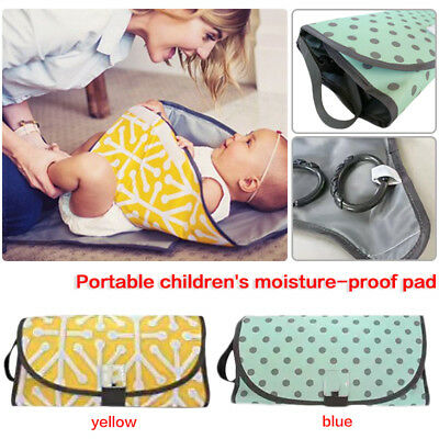 3-IN-1 Baby Changing Pad Foldable Waterproof Clean Hands Clutch Change Diaper