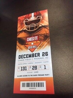 2018 Cheez-It Bowl MINT Season Ticket 12/26/18 NCAA Football Stub TCU California