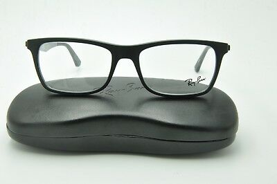 c502b88d0d4 New Ray Ban RB 7062 Eyeglasses 5197 Matte Black on Green Frames 55mm + Case