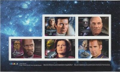 STAR TREK = Souvenir  Sheet of 5 stamps from PRESTIGE booklet MNH-VF Canada 2017