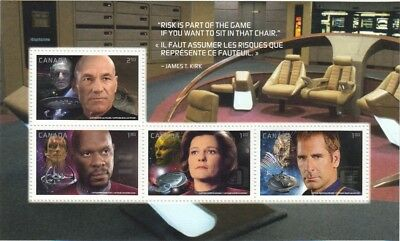 STAR TREK = Souvenir Sheet of 4 stamps from PRESTIGE booklet MNH-VF Canada 2017