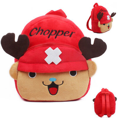 New Anime One Piece Chopper Backpack Kids Baby Shoulder Bag Soft Plush Bags Gift