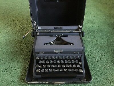 Antique Vintage Royal Quiet Deluxe Portable Typewriter