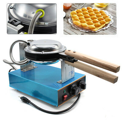 Electric Bubble Egg Cake Maker Oven Non-Stick Waffle Baker Machine Stainless NEW