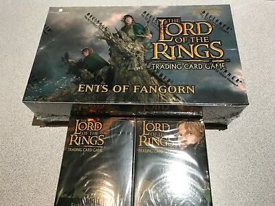 Lord Of The Rings Ccg Ents Of Fangorn Booster Box + 2 Decks Sealed Decipher Lot