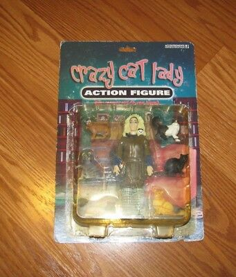 Accoutrements Crazy Cat Lady Action Figure WITH 6 CAT FIGURES NEW SEALED TOY