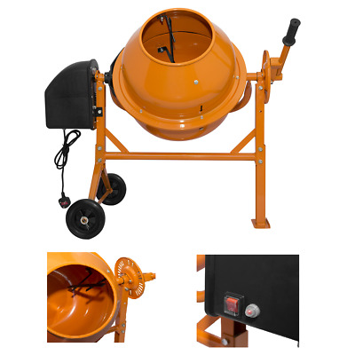 70 LITRE Drum Electric Cement Mixer 250W Portable Concrete Mortar Mixing Machine