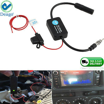 Car Auto Stereo FM & AM Radio Signal Antenna Aerial Signal Amp Amplifier Booster