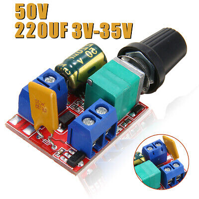 Mini 3~35V PWM DC Motor Speed Controller Adjustable Switch LED Fan Dimmer Tool