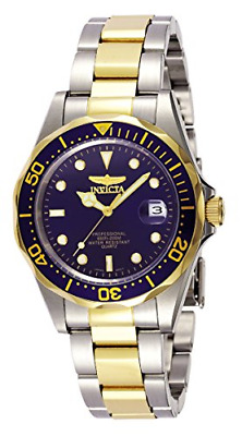 Invicta Mens 8932OB Pro Diver Analog Quartz Silver; Dial color - Black Stain...