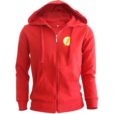 The Flash Barry Allen Star Labs Embroidered Heavy Blend Zip Hoodie DC