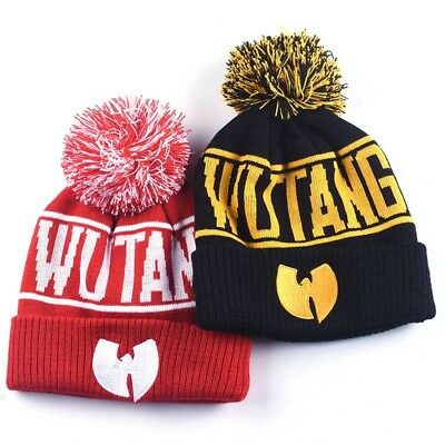 NEW Wu-Tang Clan Beanie Skullies Knitted Wu Tang Hat HipHop Winter High  Quality 3f3f3e176008