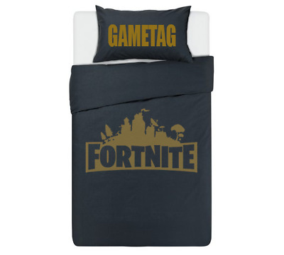 FORTNITE Personalised DUVET COVER BEDDING SET ** GOLD ** PS4 / XBOX ONE