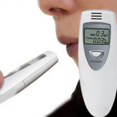 0.01% BAC Police Digital Alcohol Breath Tester Analyse Breathalyzer White