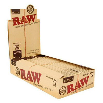 RAW 12 Iinch Supernatural Giant Super King Size Rolling Papers (Full Box)