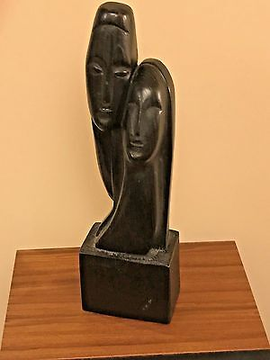 African Handmade Art - Carved Wood Statue